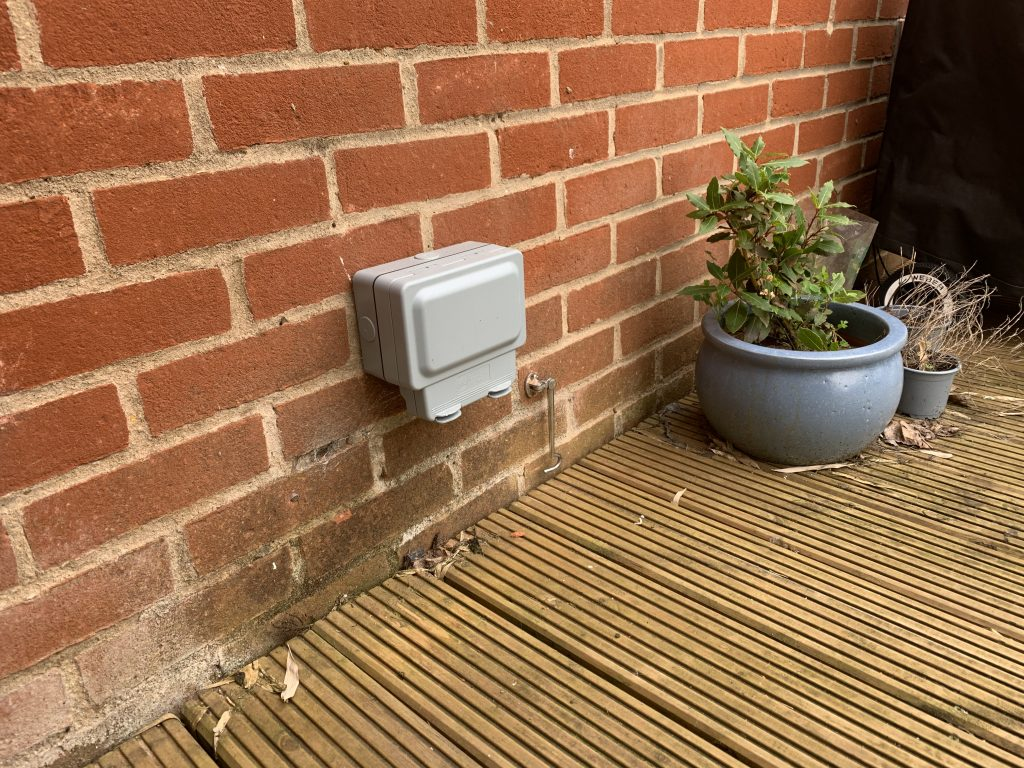 Outside Socket Installaed by Spaldwick Electrical - Jason Pope - 07446 965998